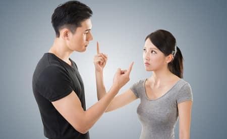 Couple en plein conflit