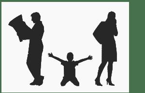 enfant entre parent après un divorce