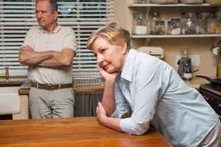 couple du troisième age en crise